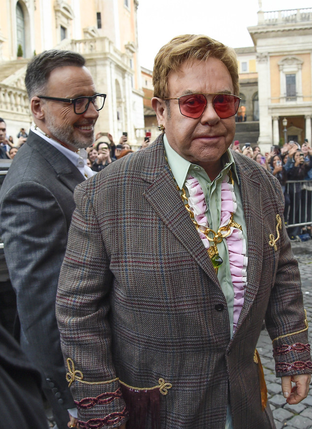 Gucci Cruise Fashion Show 2019, Elton John, David Furnish